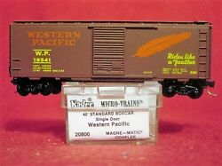 Kd 20800 Western Pacific 40' Box Car 'rides Like A Feather'19541 'new' N-scale