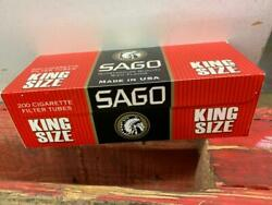 Sago Cigarette Tubes Filters King Size 200 Count Per Box 42 Boxes Total