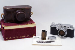 Collectible Mint Leica Iiif Red Dial + Summicron 50mm F/2 50/2 Lens Radioactive