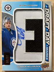 2015-16 Upper Deck Sp Game Used Draft Day Marks Connor Hellebuyck Rookie Auto