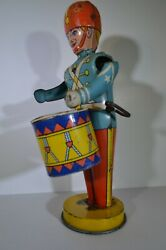 Original 1930's J. Chein And Co. 109 Wind Up Drummer Boy Tin Litho Toy Usa Made
