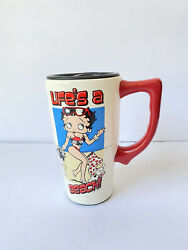 Betty Boop Life's A Beach Ceramic Spoontiques Travel Mug With Lid 10 Oz 7