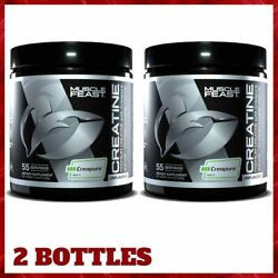 2 Bottles Creatine Monohydrate Supports Muscle Energy 300g Each By Muscle Feast