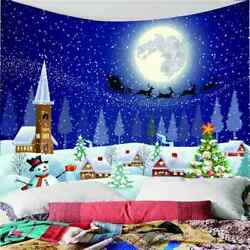 Stars Moon And Snowflakes 3d Wall Hang Cloth Tapestry Fabric Decorations Decor