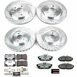 Powerstop For 11-14 Ford Mustang Front And Rear Z26 Street Warrior Brake Kit
