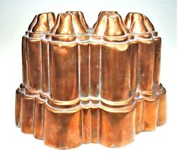 Oval Benham Froud 616 Antique Copper Jelly Pudding Mould Tower Victorian Mold
