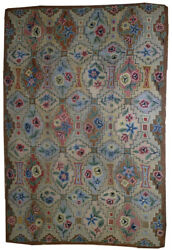 Hand Made Antique American Hooked Rug 6' X 8.10' 183cm X 272cm 1900 - 1b537