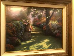 Thomas Kincade Limited 308/700 Pathway To Paradise Ii 44x36 Athenticity Papers