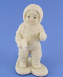 Snowbabies Dept. 56 A Special Delivery Figurine 6002848 Snow Shoes Stars Bisque