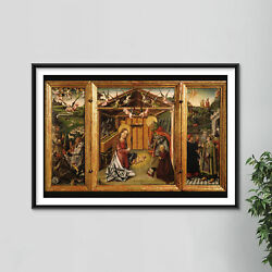 Master Of Avila - Triptych Of The Nativity 15th Century Poster Painting Print