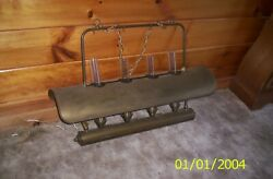 Vintage Brass Electric Oil Hurricane Style Hanging Lamp 4 Lights And Chimneys
