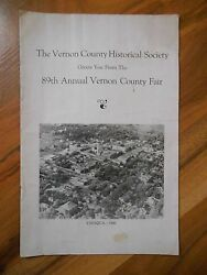 Awesome Old Vintage Vernon County Historical Society 89th Annual Fair Booklet