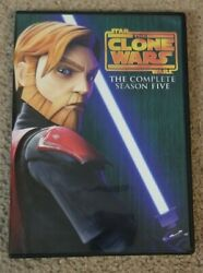 Star Wars The Clone Wars - The Complete Season Five Dvd, 2013, 3-disc Set Works
