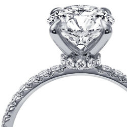 1.80 Carat Diamond Hidden Halo Engagement Ring White Gold Si2 Andpound9300 66851191