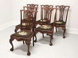 Antique 19th Century Chippendale Dining Side Chairs - Set Of 6