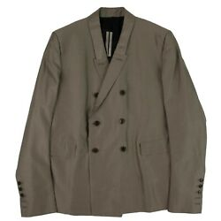 Nwt Rick Owens Dust Gray Double Buttoned Blazer Jacket Size 52 2880