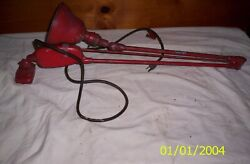 Vintage Industrial Machine Drafting Lamp Light Articulating Arm Workbench Table
