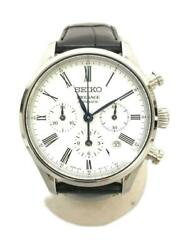 Seiko Presage Chronograph Date Used Automatic Mens Watch Authentic Working