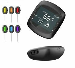 Remote Wireless Food Kitchen Thermometer Bbq Smoker Grill Oven Meat With Timer