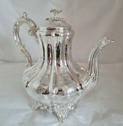 Antique Sterling Silver Coffee Pot. London 1844. By Joseph And Albert Savory