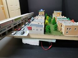 Custom Kato N Scale Train Station For Railroad With A Lot Of Features