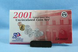 2001 Uncirculated Coin Set Denver And Philadelphia In Original Us Mint Packaging