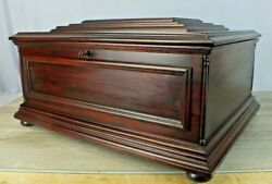 Original Wood Case For Regina Music Box Disk Player Phonograph Old And Sturdy