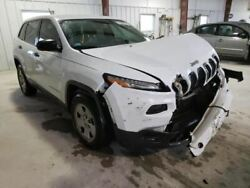 2014-2018 Jeep Cherokee Left Front Driver Door White Auto Down Glass Power 45369