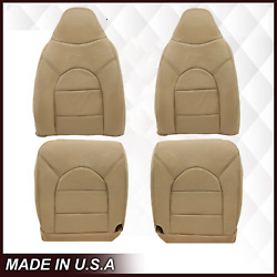 For 2000 Ford F250 F350 Lariat Super Duty Replacement Leather Seat Cover In Tan