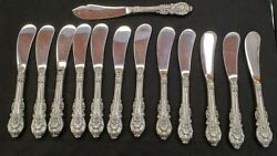Wallace Sterlingandnbsp Sir Christopher 12 Butter Spreader With Master Butter Knife Hh