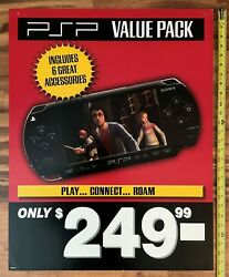 Sony Psp Value Pack Video Game Store Display Sign 22x28 Playstation Promo