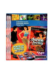 Dance Factory Store Display Shelf-talker Sign Sony Playstation 2 2006 Never Used