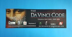 The Da Vinci Code 2006 Store Display Ceiling Sign X-box Sony Ps2 Advertising