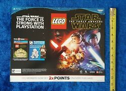 Lego Star Wars Video Game Store Display Promo Sign Sony Playstation Ps4 2016