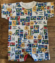 Vintage Peanuts Charlie Brown Snoopy Comic Football One Piece Toddler