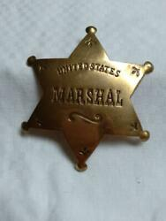 And039united States Marshaland039 Badge Solid Brass Star