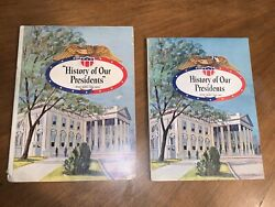 Vintage Maxwell House History Of The Presidents 2 Book Lot Rare Popup Books