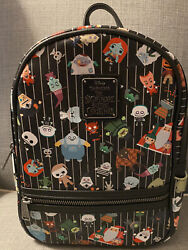Nwt Loungefly Disney Parks Nightmare Before Christmas Chibi Aop Mini Backpack