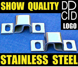 Nos Pair 1930and039s Dodge Truck Dpcd Hood Hinge Pivots Stainless Steel Chrome Shine