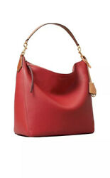 Tory Burch Perry Leather Hobo Bag Red New $299.00