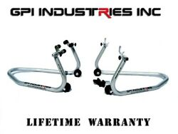 Gp Pro Series Front And Rear Motorcycle Stands Set - Paddock Race Stands Lifts