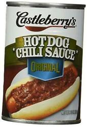 , Hot Dog Chili Sauce, Classic, 10oz Can Pack Of 6 - Set Of 4