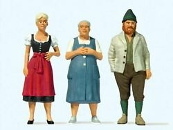 Preiser G Scale Figures People In Bavarian Costume 2 Women And 1 Man   44921