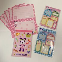 Very Rare Disney Old Paper 5 Sheets Notepad Sticky Note Set Nearly Unused