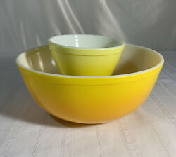 Vintage Pyrex Pineapple Party Chip And Dip Promotional Bowl Set