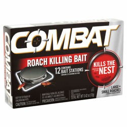 Combat Max 12 Roach Killing Bait Station Kills The Nest Large And Small Roaches