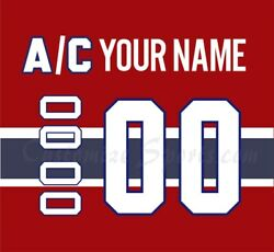 Montreal Canadiens Customized Number Kit For 2017-present Home Jersey