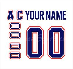 Montreal Canadiens Customized Number Kit For 2017-present Away Jersey