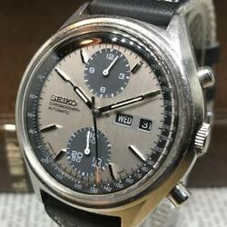 Seiko 6138-8020 Vintage Chronograph Automatic Mens Watch Authentic Working