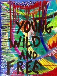 Street Art Moderne Abstrait Contemporain Youngwild And Free🐆acrylique 60x80